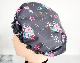 LAVABLE shower cap: Flower anchors