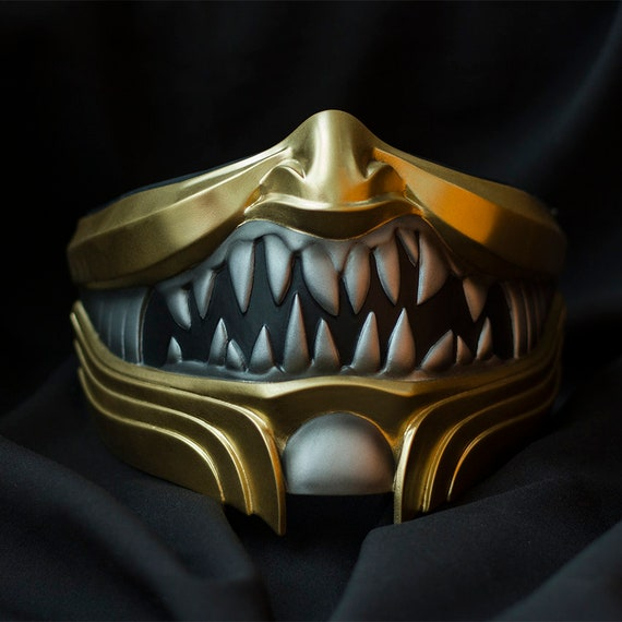 Scorpion Mask Inspired By Mortal Kombat 11 Video Game Etsy