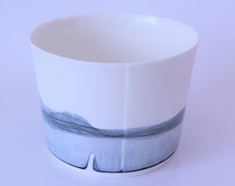 Large deep blue bowl