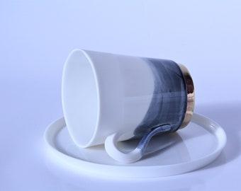 Fine blue small cup