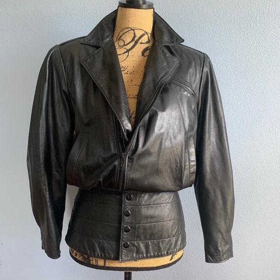 North Beach Leather Black New Wave Leather Moto Ja