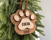 Customized Personalised Dog Ornament Wood
