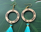 Custom personalized engraved name earrings