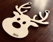 Personalised Reindeer ornament