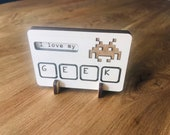 Wood display Computer Geek office desk sign personalized customized
