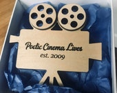 Personalizable Videographer or Film Maker's Ornament- wedding videography-personalized gift-christmas tree or keepsake