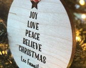 Ornament Christmas Tree Personalized Family Name