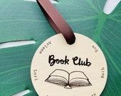 Ornament Bookclub Personalized Open Book