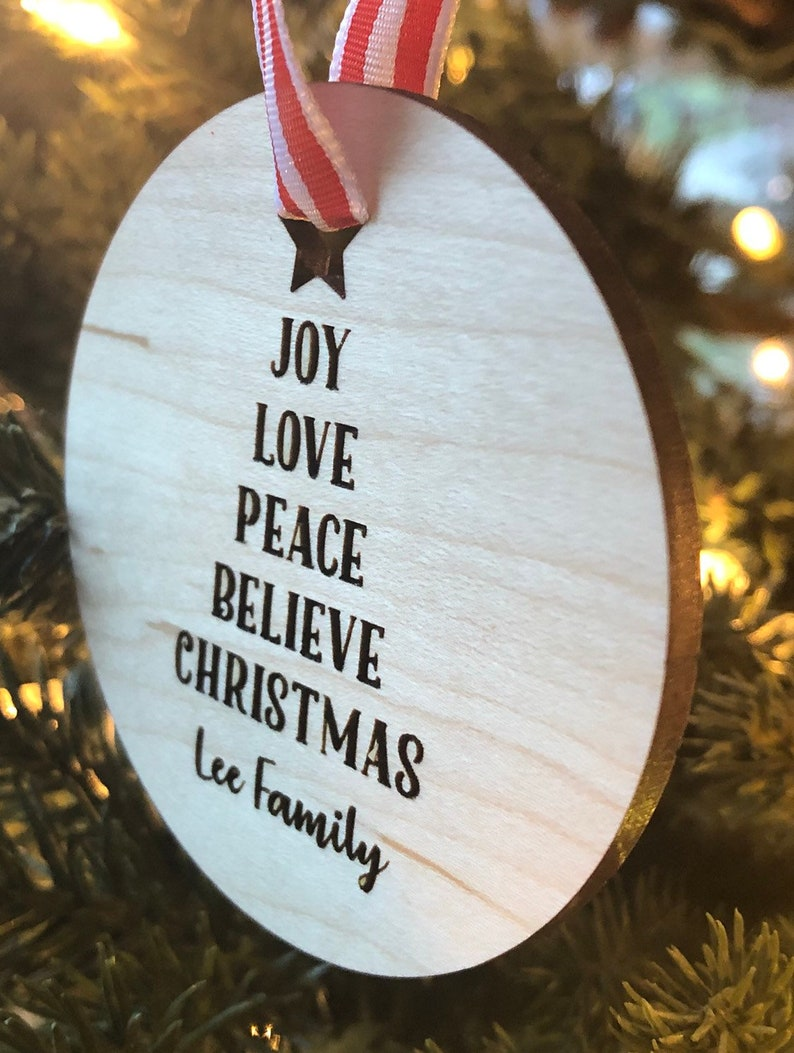 Ornament Christmas Tree Personalized Family Name image 0