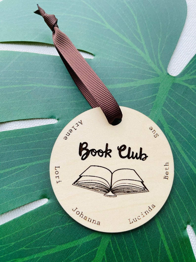 Ornament Bookclub Personalized Open Book image 0