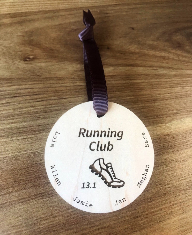 Ornament Run club Personalized for Runner image 0
