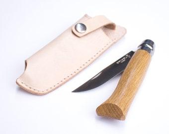 Marron Compatible avec Opinel no.8 oopsmark Gaine de Ceinture en Cuir pour Couteaux