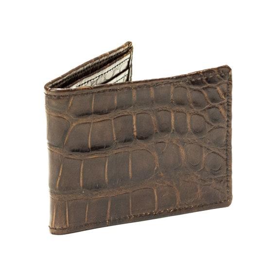 Alligator Wallet, Men's Brown Alligator Leather Wallet, Leather Wallet, Wallet, Bifold Wallet, Unique Wallet, Mens Wallet, Alligator