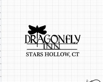 Gilmore Girls Landmark Dragonfly Inn Logo SVG PNG db93b0267635
