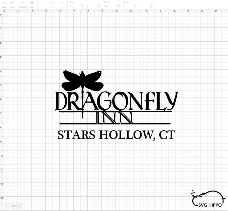 Gilmore Girls Landmark Dragonfly Inn Logo SVG PNG  d2d9be57ebb1