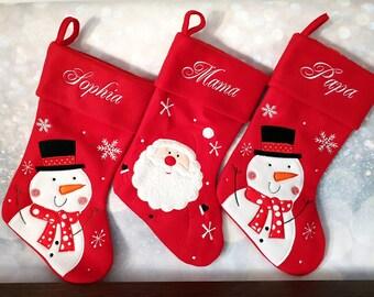 2372fdd0953d8 Chaussette de Noël personnalisée avec le prénom   nom brodée