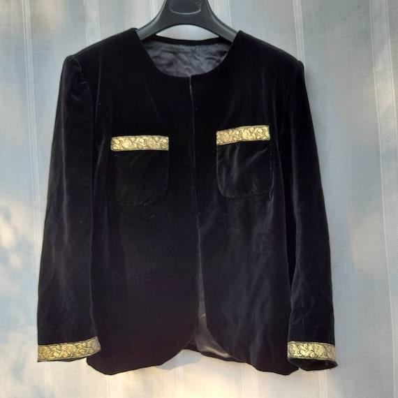 VINTAGE BLACK VELVET Jacket. Vintage Tailored Jack
