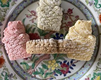 1 Dozen Vintage Kitten Cat Tea Cakes Vegan and Gluten Free Options Mother's Day Cookies Sweets
