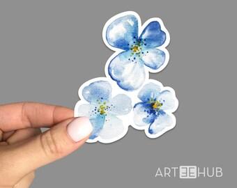 Flowers Sticker, Flower Decal, Flower Sticker, Watercolor Flowers Sticker, Cute Sticker