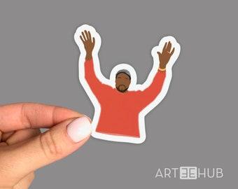 Kanye West Sticker, Kanye Omari West Sticker, American Raper Sticker, Singer Sticker, Record Producer Sticker, Fashion Designer Sticker