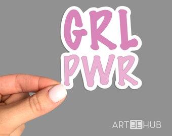Girl Power Sticker, Girl Power Laptop Decal, Cool Laptop Sticker, MacBook sticker, iPad sticker, Skateboard stickers, Girl Power