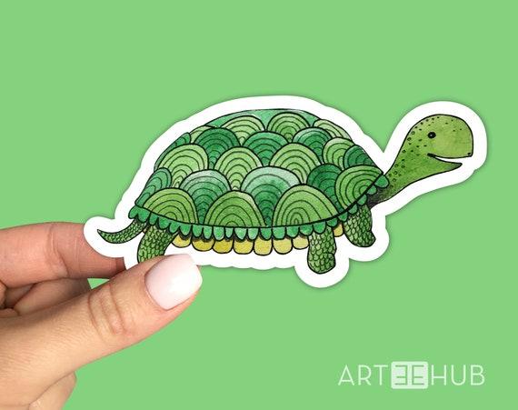 Turtle Tortoise Dabbing Vinyl Sticker Wall Bumper Phone Laptop Bottle Decal