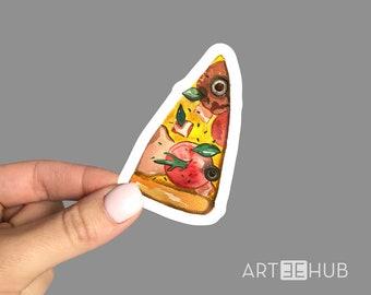 Pizza sticker, Pizza decal, Pizza Laptop Sticker, Pizza Laptop Decal, Funny sticker. Cool laptop sticker