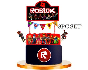 ROBLOX Cupcake Toppers Cup Cake Topper Party Decorations Supplies Favors