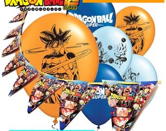 DRAGON BALL Z SUPER Birthday Banner Supplies Dragon Ball Decorations Dragonball Goku Super