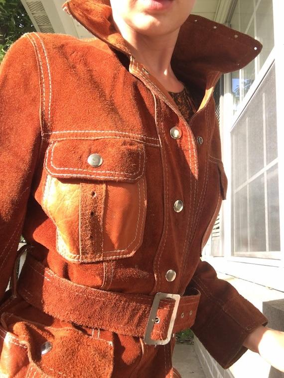 AMAZING Vintage 1970s Suede Jacket