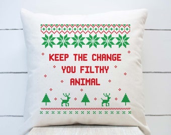 Home Alone movie quote pillow cover