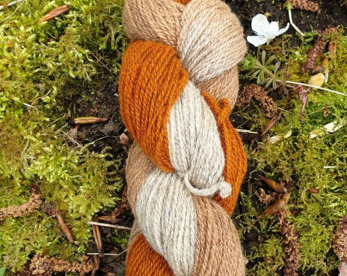 Coreopsis&cutch - naturally dyed regeneratively farmed British wool