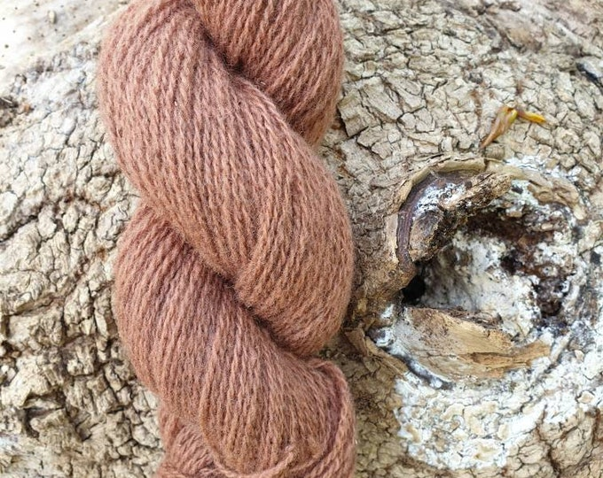 Sorghum  - naturally dyed regeneratively farmed British wool