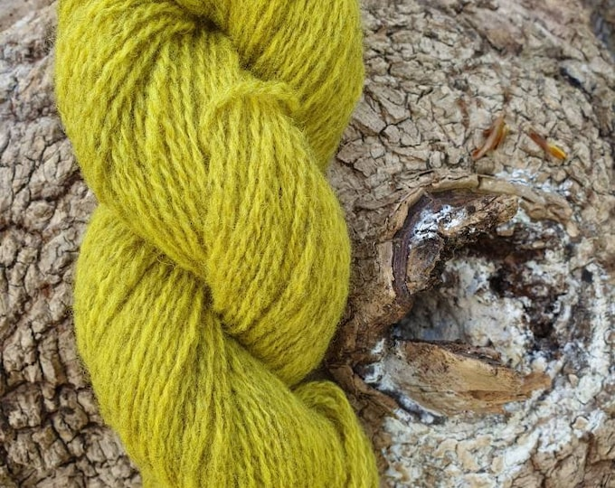 Weld - naturally dyed regeneratively farmed British wool