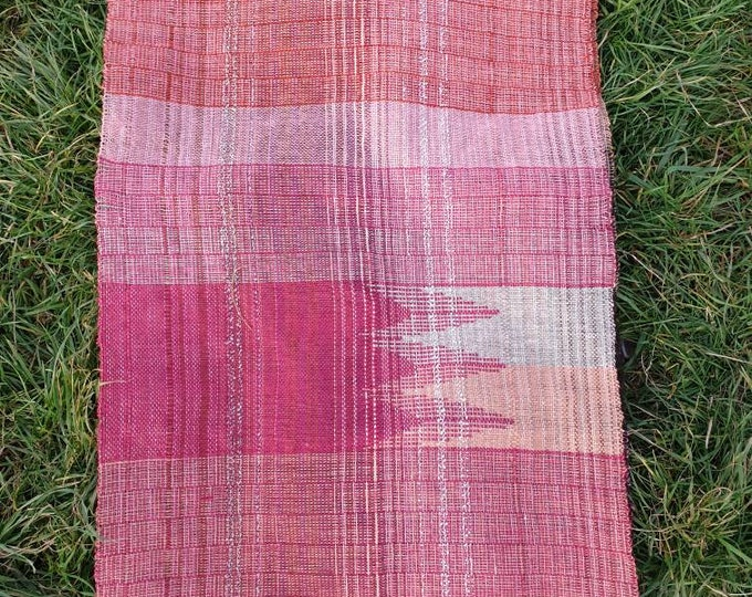 Rosie2 - handwoven scarf/shawl / long wall hanging / table runner