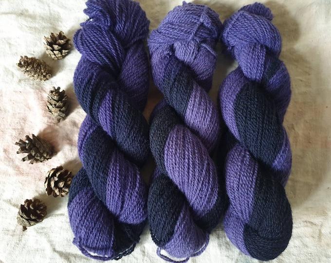 Midnight - naturally dyed regeneratively farmed British wool