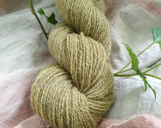 Nettle - naturally dyed regeneratively farmed British wool