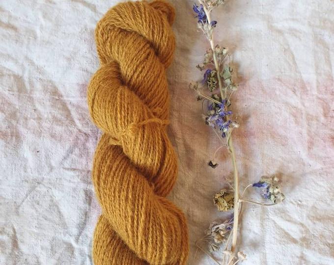 Honey - naturally dyed regeneratively farmed British wool - tea