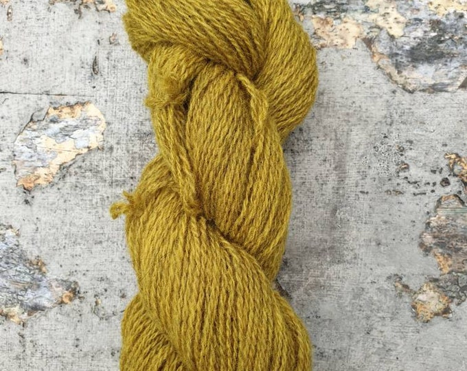 Homegrown/Foraged - meadowsweet - naturally dyed regeneratively farmed British wool