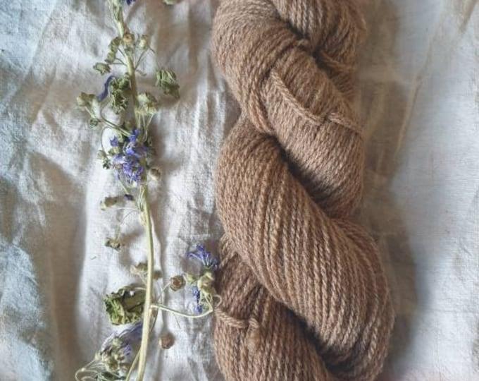 Naturally dyed regeneratively farmed wool - Alder bark