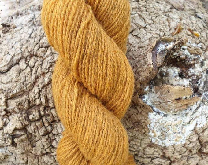 Coreopsis - naturally dyed regeneratively farmed British wool