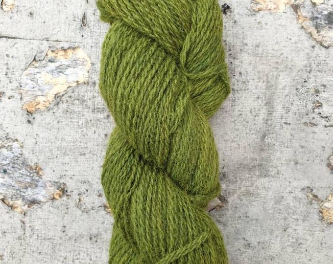 Homegrown/Foraged - meadowsweet & indigo - naturally dyed regeneratively farmed British wool