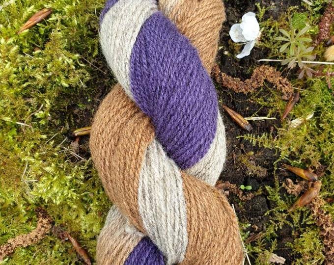 Logwood&cutch - naturally dyed regeneratively farmed British wool