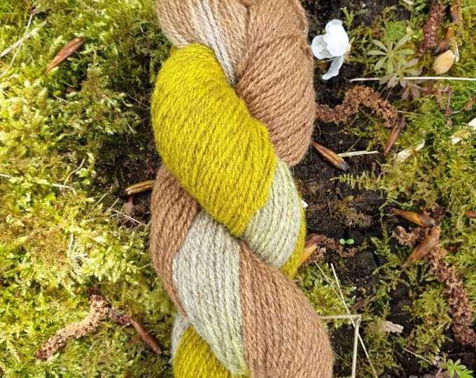 Weld&cutch - naturally dyed regeneratively farmed British wool