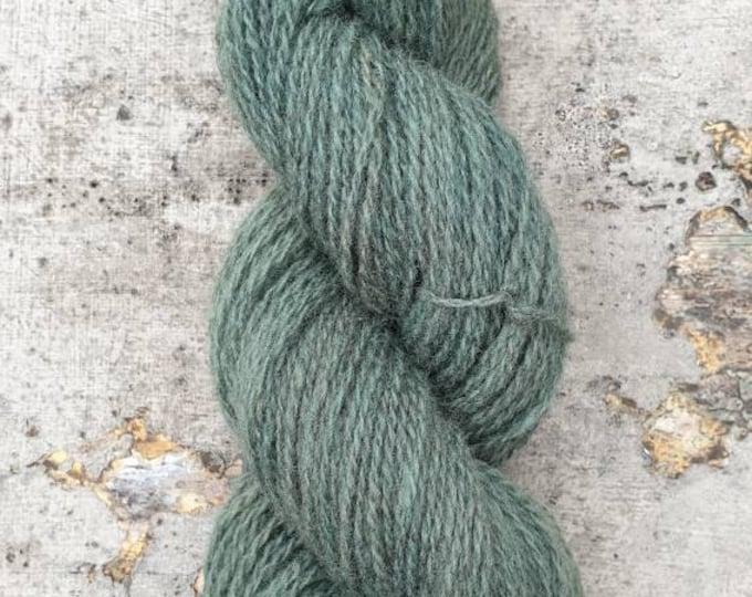 Homegrown/Foraged - indigo & rhubarb - naturally dyed regeneratively farmed British wool