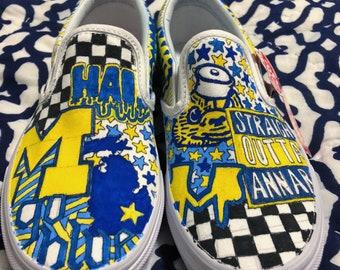 96eaa3647e2e University of Michigan Custom Sneakers