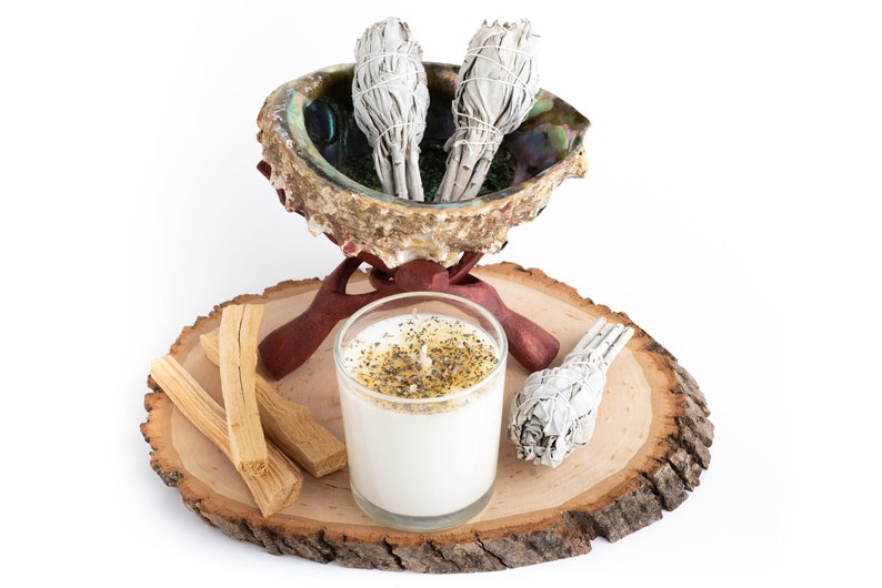 Home Cleansing Kit Home Smudging kit with abalone shell Palo image 0