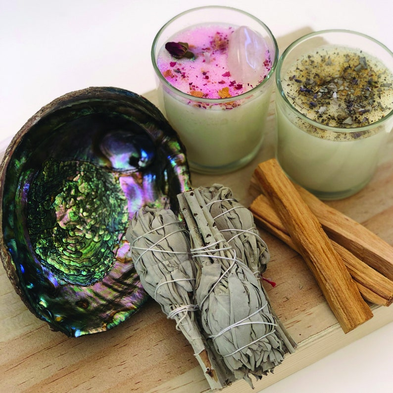 Cleansing and Blessing Love Kit  Smudging Love Attraction Kit image 0