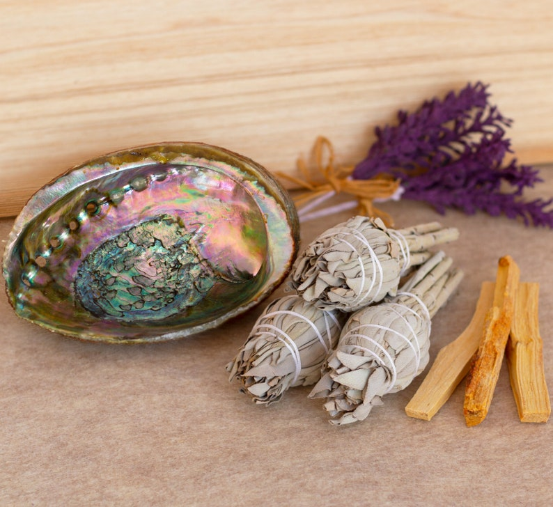 Cleansing and Blessing Kit  Smudging Chakra Balancing White image 0