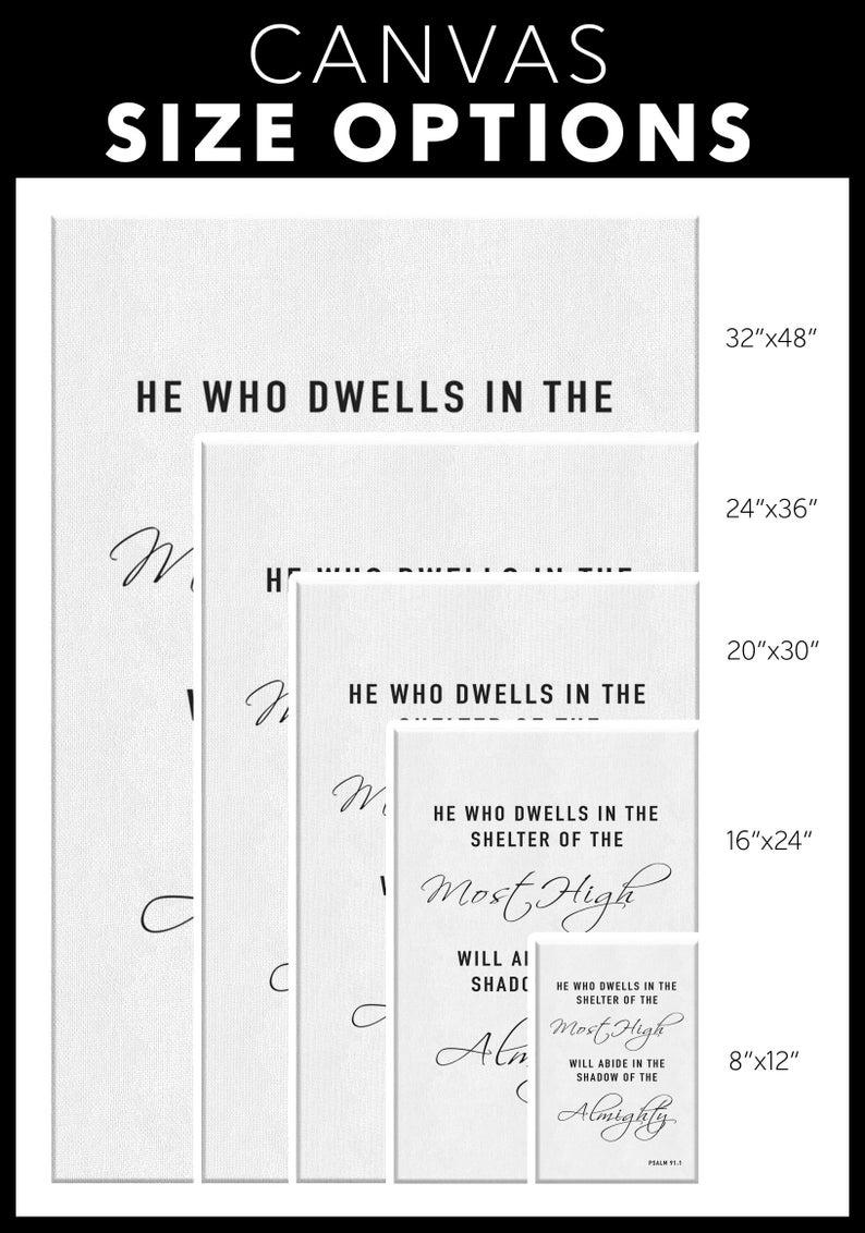 Psalms 91:1 Wall Art He Who Dwells white
